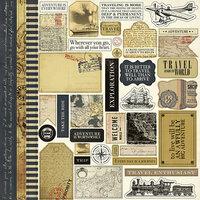 Carta Bella Paper - Transatlantic Travel Collection - 12 x 12 Cardstock Stickers