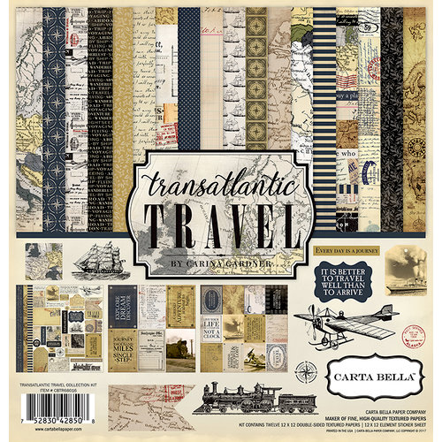 Carta Bella Paper - Transatlantic Travel Collection - 12 x 12 Collection Kit
