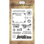 Carta Bella Paper - Transatlantic Travel Collection - Clear Acrylic Stamps - Travel The World