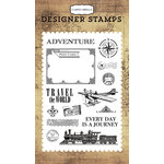 Carta Bella Paper - Transatlantic Travel Collection - Clear Photopolymer Stamps - Travel The World
