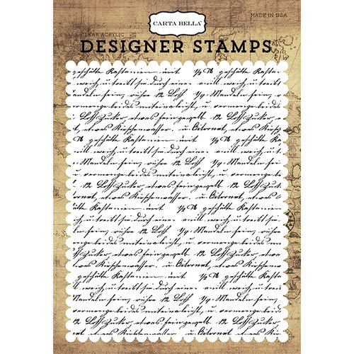Carta Bella Paper - Transatlantic Travel Collection - Clear Photopolymer Stamps - Travel Journal A2