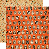 Carta Bella - Trick or Treat Collection - Halloween - 12 x 12 Double Sided Paper - Masks