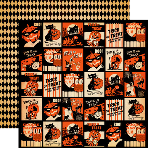 Carta Bella - Trick or Treat Collection - Halloween - 12 x 12 Double Sided Paper - Trick Or Treat