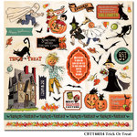Carta Bella - Trick or Treat Collection - Halloween - 12 x 12 Cardstock Stickers - Elements