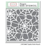 Carta Bella - Trick or Treat Collection - Halloween - 6 x 6 Stencil - Spider Webs