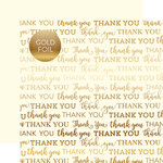 Carta Bella Paper - Thank You Gold Foil Collection - 12 x 12 Paper with Foil Accents - Cream