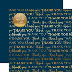 Carta Bella Paper - Thank You Gold Foil Collection - 12 x 12 Paper with Foil Accents - Navy