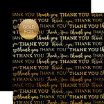Carta Bella Paper - Thank You Gold Foil Collection - 12 x 12 Paper with Foil Accents - Black