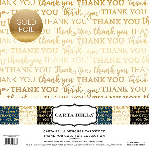 Carta Bella Paper - Thank You Gold Foil Collection - 12 x 12 Collection Kit