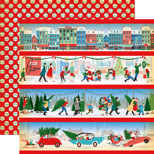 Carta Bella Paper - A Very Merry Christmas Collection - 12 x 12 Double Sided Paper - Border Strips