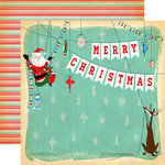 Carta Bella Paper - A Very Merry Christmas Collection - 12 x 12 Double Sided Paper - Merry Christmas