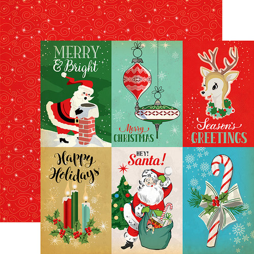 Carta Bella Paper - A Very Merry Christmas Collection - 12 x 12 Double Sided Paper - 4 x 6 Journaling Cards