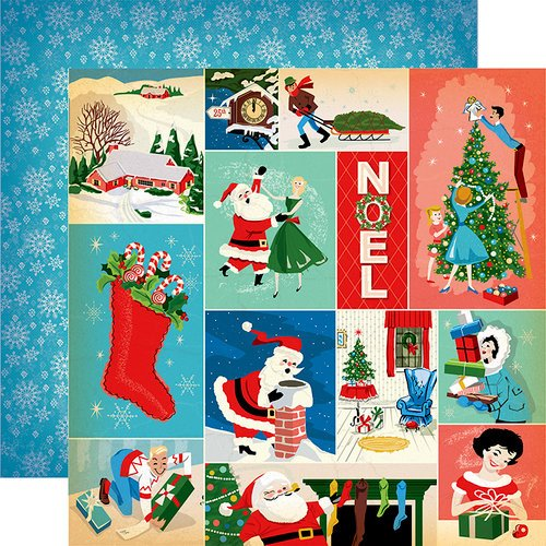 Carta Bella Paper - A Very Merry Christmas Collection - 12 x 12 Double Sided Paper - Christmas Festivities Journaling Cards