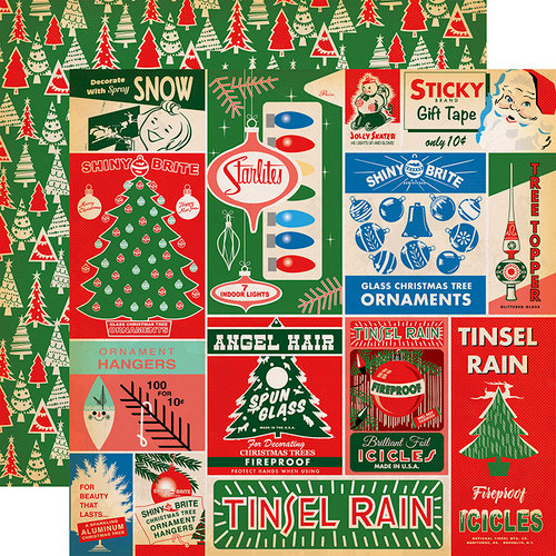 Carta Bella Paper - A Very Merry Christmas Collection - 12 x 12 Double Sided Paper - Vintage Packaging Journaling Cards
