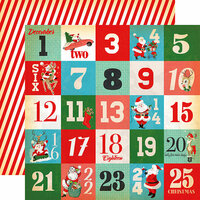 Carta Bella Paper - A Very Merry Christmas Collection - 12 x 12 Double Sided Paper - Days of Christmas Journaling Cards