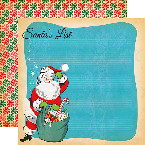 Carta Bella Paper - A Very Merry Christmas Collection - 12 x 12 Double Sided Paper - Santa's List