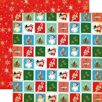 Carta Bella Paper - A Very Merry Christmas Collection - 12 x 12 Double Sided Paper - Christmastime Squares