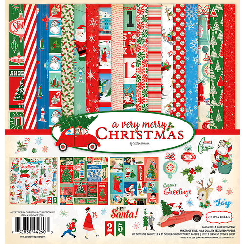 Carta Bella Paper - A Very Merry Christmas Collection - 12 x 12 Collection Kit