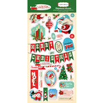 Carta Bella Paper - A Very Merry Christmas Collection - Chipboard Stickers