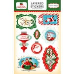 Carta Bella Paper - A Very Merry Christmas Collection - Layered Cardstock Stickers