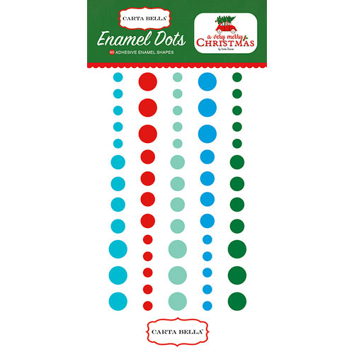 Carta Bella Paper - A Very Merry Christmas Collection - Enamel Dots