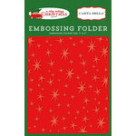 Carta Bella Paper - A Very Merry Christmas Collection - Embossing Folder - Christmas Magic