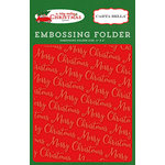 Carta Bella Paper - A Very Merry Christmas Collection - Embossing Folder - Merry Christmas