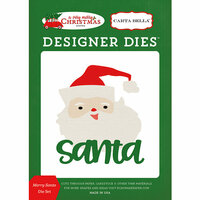 Carta Bella Paper - A Very Merry Christmas Collection - Designer Dies - Merry Santa