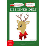 Carta Bella Paper - A Very Merry Christmas Collection - Designer Dies - Reindeer and Bow