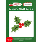 Carta Bella Paper - A Very Merry Christmas Collection - Designer Dies - Christmas Holly and Berries