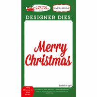 Carta Bella Paper - A Very Merry Christmas Collection - Designer Dies - Merry Christmas 3 Word