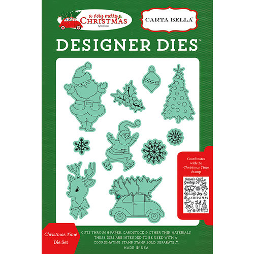 Carta Bella Paper - A Very Merry Christmas Collection - Designer Dies - Christmas Time