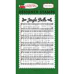 Carta Bella Paper - A Very Merry Christmas Collection - Clear Acrylic Stamps - Jingle Bells