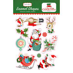 Carta Bella Paper - A Very Merry Christmas Collection - Enamel Shapes