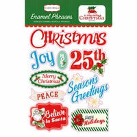 Carta Bella Paper - A Very Merry Christmas Collection - Enamel Words and Phrases
