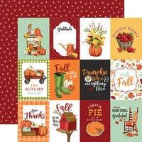 Carta Bella Paper - Welcome Autumn Collection - 12 x 12 Double Sided Paper - 4 x 3 Journaling Cards