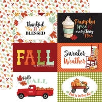 Carta Bella Paper - Welcome Autumn Collection - 12 x 12 Double Sided Paper - 6 x 4 Journaling Cards