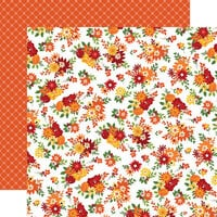 Carta Bella Paper - Welcome Autumn Collection - 12 x 12 Double Sided Paper - Fall Floral