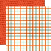 Carta Bella Paper - Welcome Autumn Collection - 12 x 12 Double Sided Paper - Pumpkin Spice Plaid