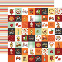 Carta Bella Paper - Welcome Autumn Collection - 12 x 12 Double Sided Paper - Seasonal Squares