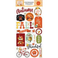 Carta Bella Paper - Welcome Autumn Collection - Chipboard Embellishments - Phrases