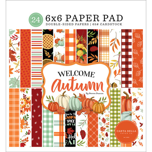 Carta Bella Paper - Welcome Autumn Collection - 6 x 6 Paper Pad
