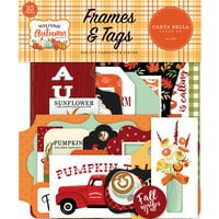 Carta Bella Paper - Welcome Autumn Collection - Ephemera - Frames and Tags