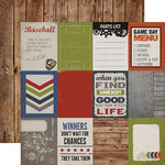 Carta Bella - Work Hard Play Hard Collection - 12 x 12 Double Sided Paper - 3 x 4 Journaling Cards