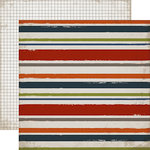 Carta Bella - Work Hard Play Hard Collection - 12 x 12 Double Sided Paper - Sport Stripe