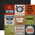 Carta Bella - Work Hard Play Hard Collection - 12 x 12 Double Sided Paper - 4 x 4 Sport Cards