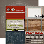 Carta Bella - Work Hard Play Hard Collection - 12 x 12 Double Sided Paper - 4 x 6 Journaling Cards