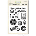 Carta Bella - Work Hard Play Hard Collection - Clear Acrylic Stamps - Play Hard