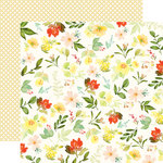 Carta Bella Paper - Welcome Home Collection - 12 x 12 Double Sided Paper - Gather Flowers