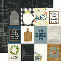 Carta Bella Paper - Welcome Home Collection - 12 x 12 Double Sided Paper - 3 x 4 Journaling Cards